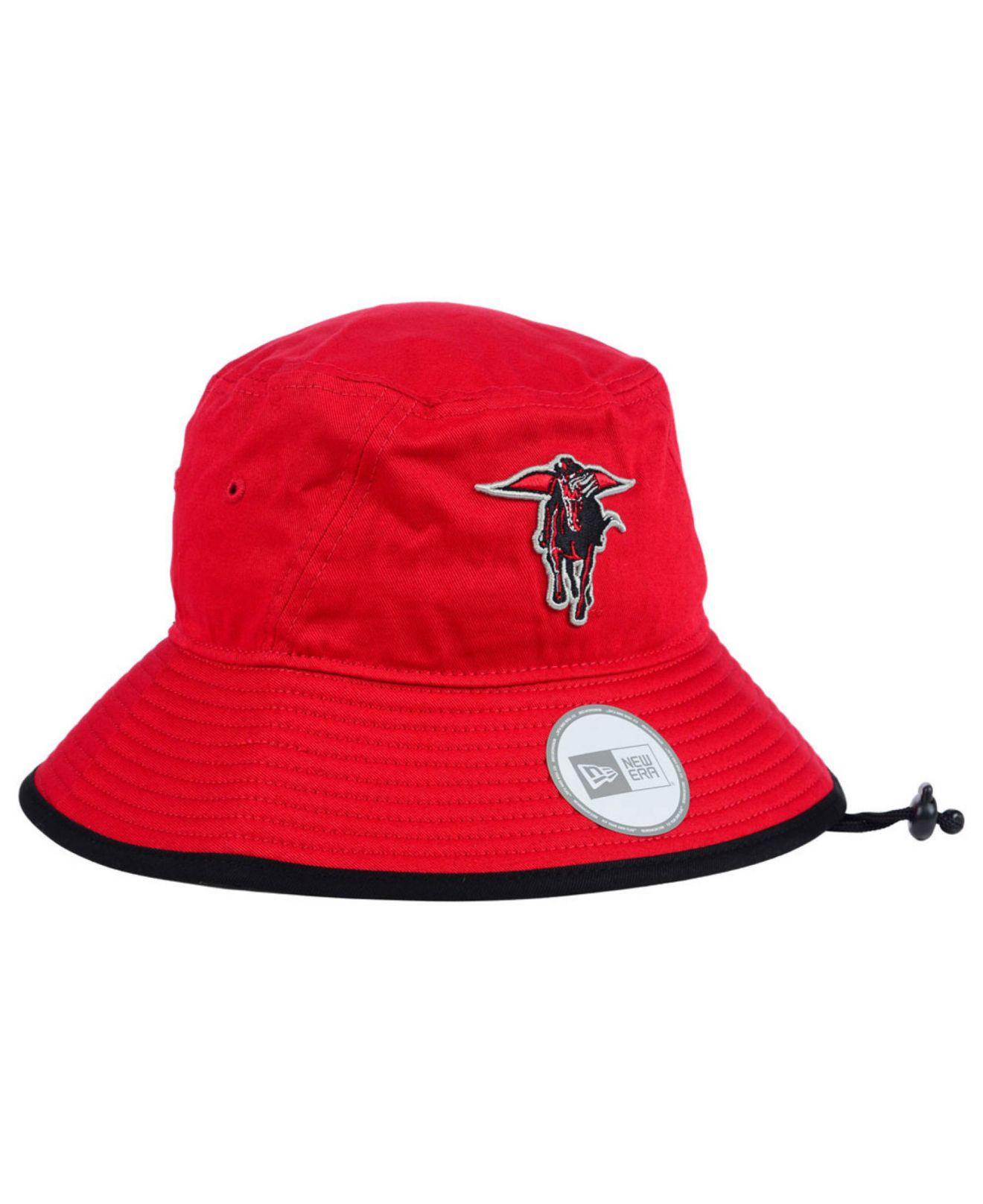 online store 8da08 7171d ... snapback hat cap 23 d9e3d 11df5  australia lyst ktz texas tech red  raiders tip bucket hat in red for men b54c4 91488