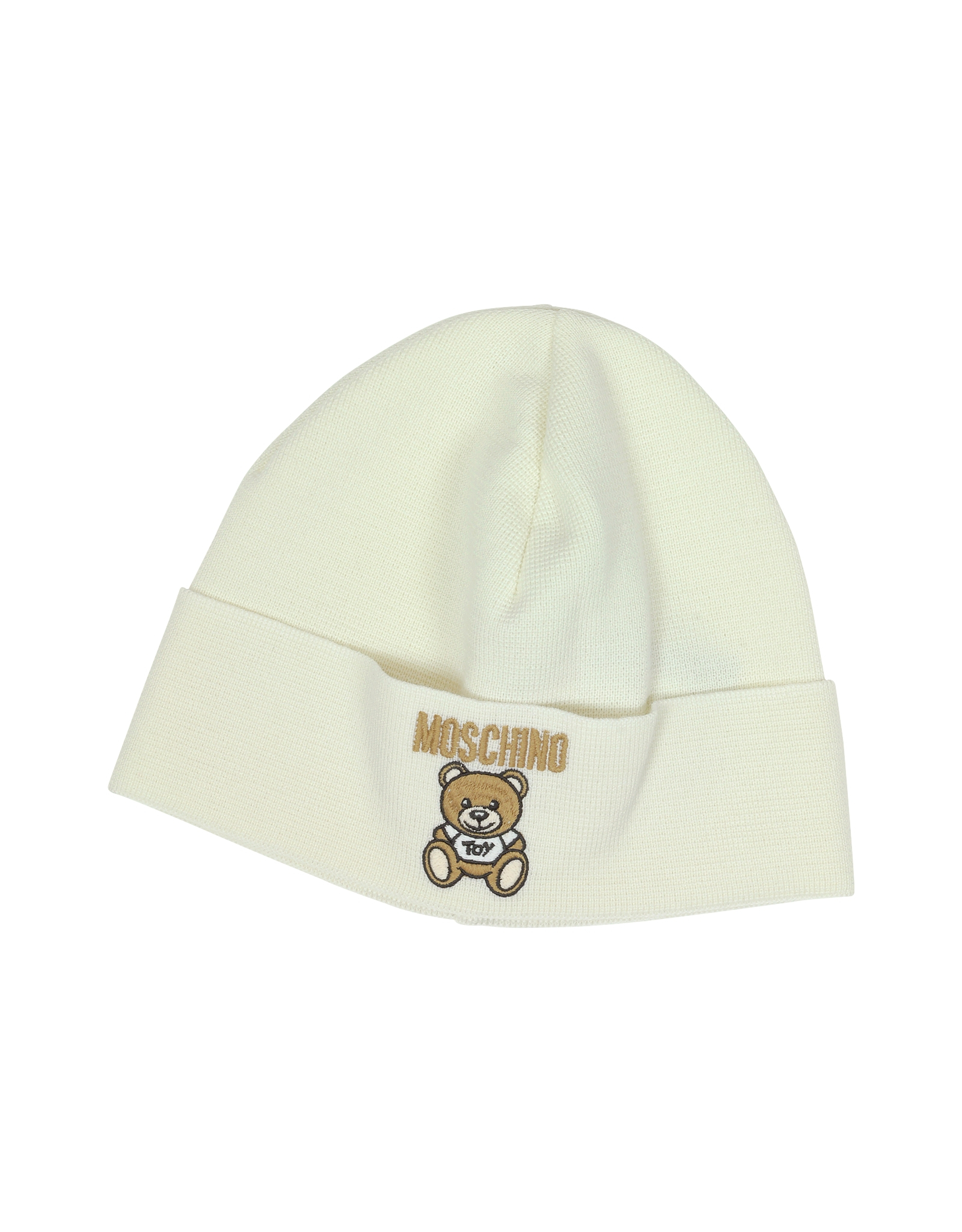 9574cd69f8241c Moschino Teddy Bear Wool Blend Hat in White - Lyst
