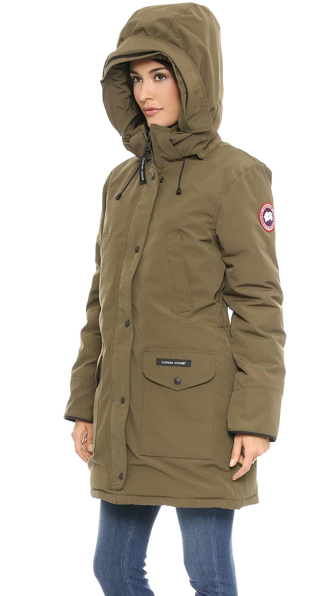 Canada Goose mens sale authentic - Canada goose Trillium Parka - Black in Green (Military Green) | Lyst