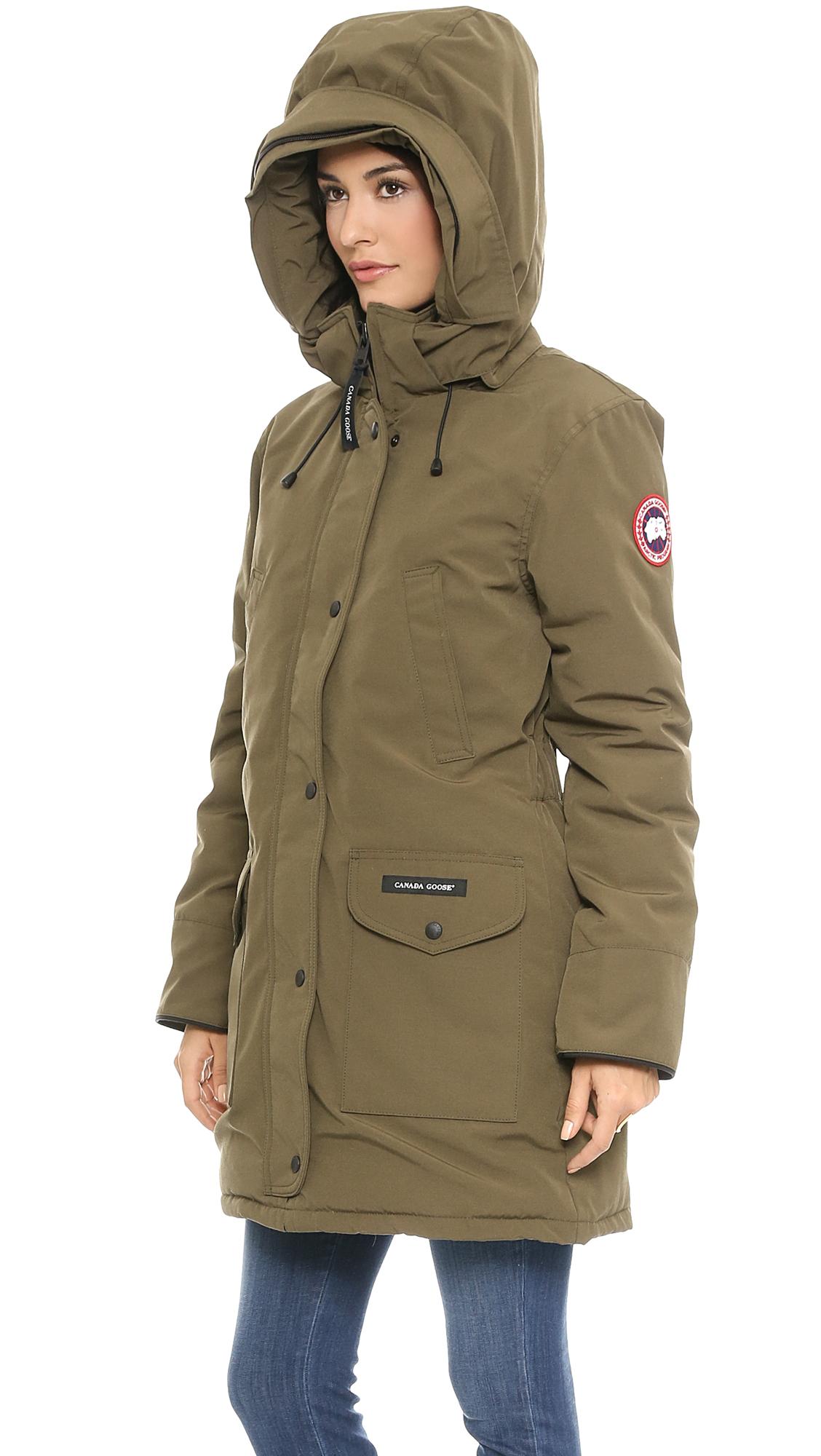canada goose trillium parka jacket - black