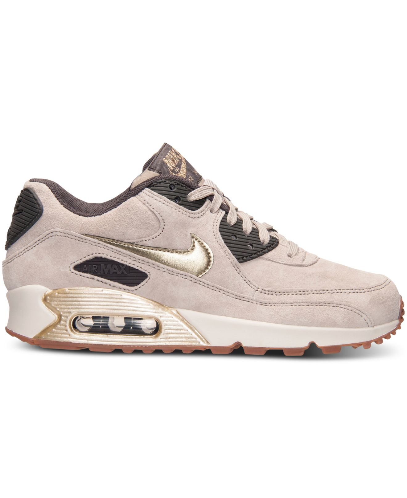 Lyst - Nike Women s Air Max 90 Premium Suede Running Sneakers From ... c8dd2a931