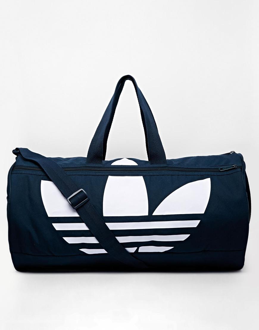 adidas originals canvas duffle bag in blue for men lyst. Black Bedroom Furniture Sets. Home Design Ideas