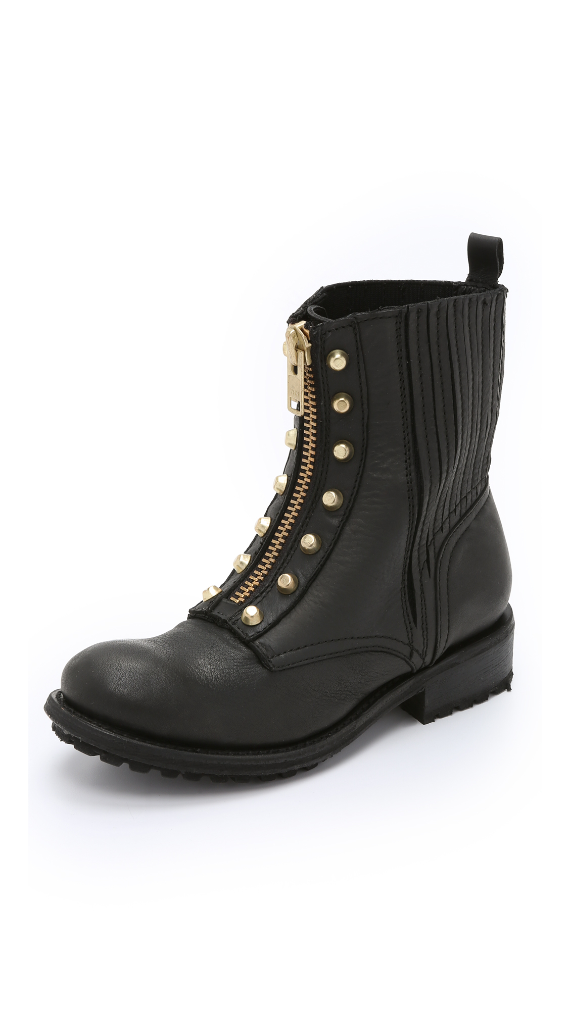 ash rachel combat boots black in black lyst. Black Bedroom Furniture Sets. Home Design Ideas