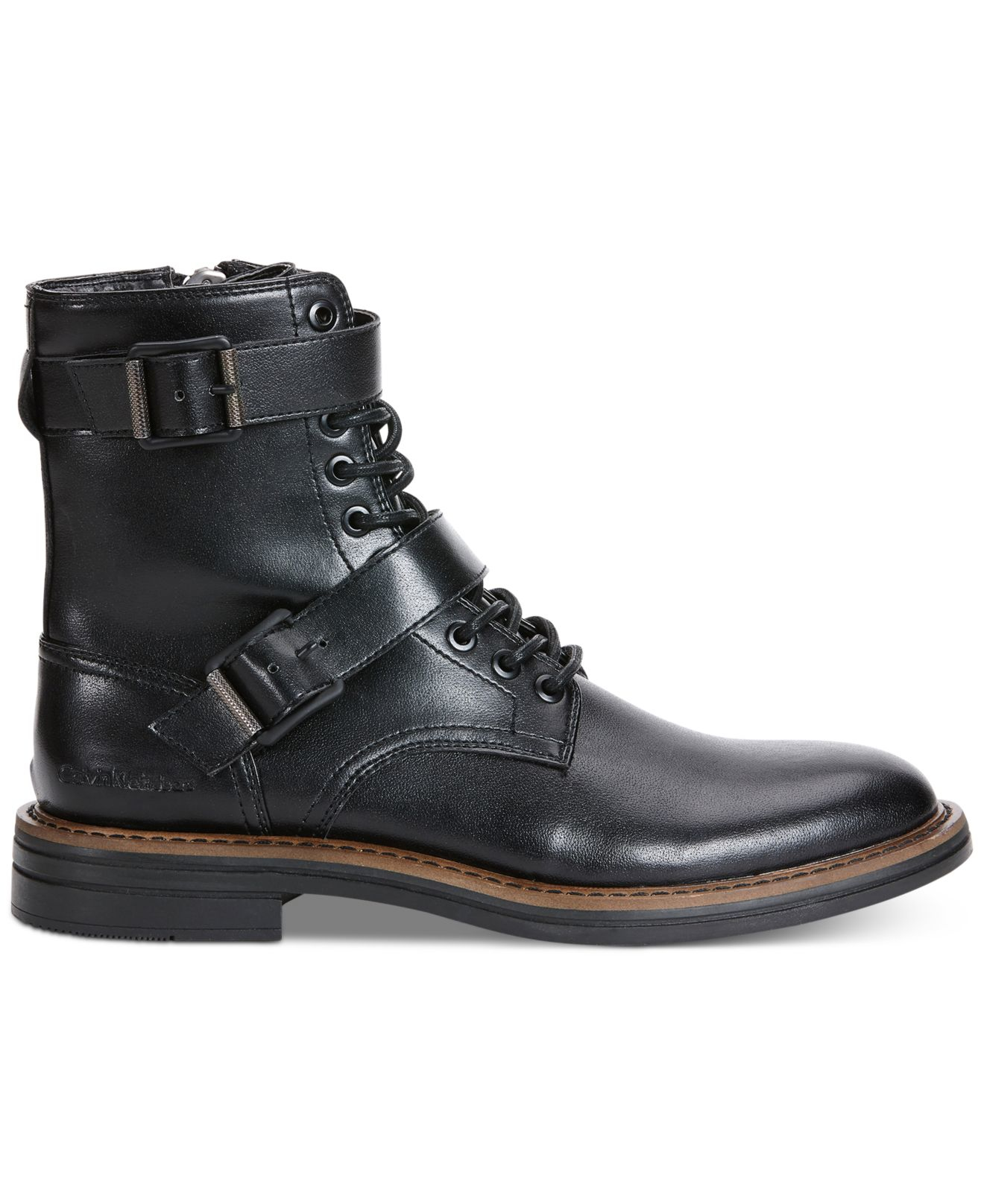 Calvin Klein Jeans Everest Double Buckle Boots in Black ...