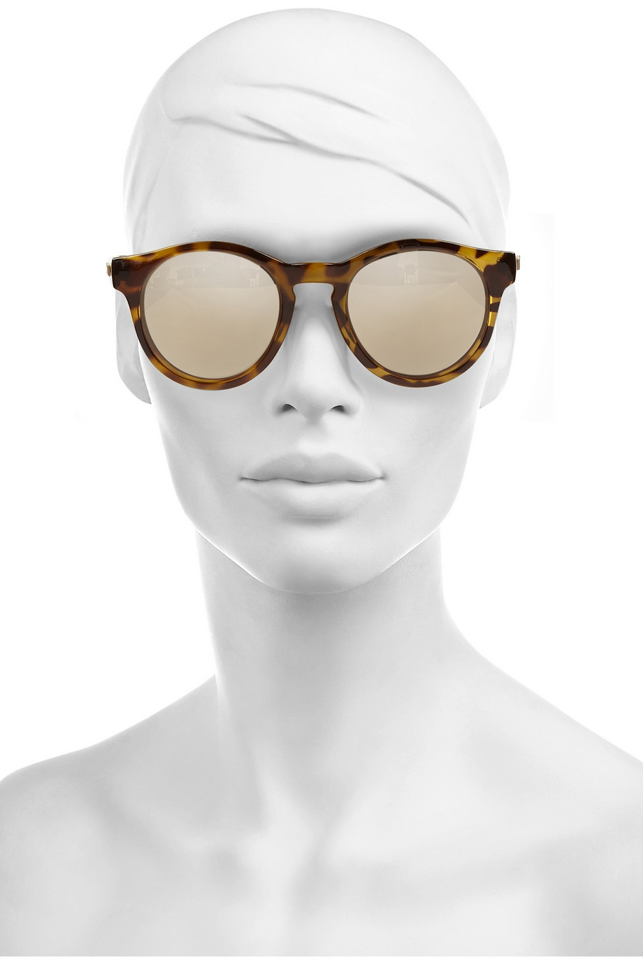 085c8fbf65 Lyst - Le Specs Hey Macarena Round-Frame Acetate Sunglasses in Brown