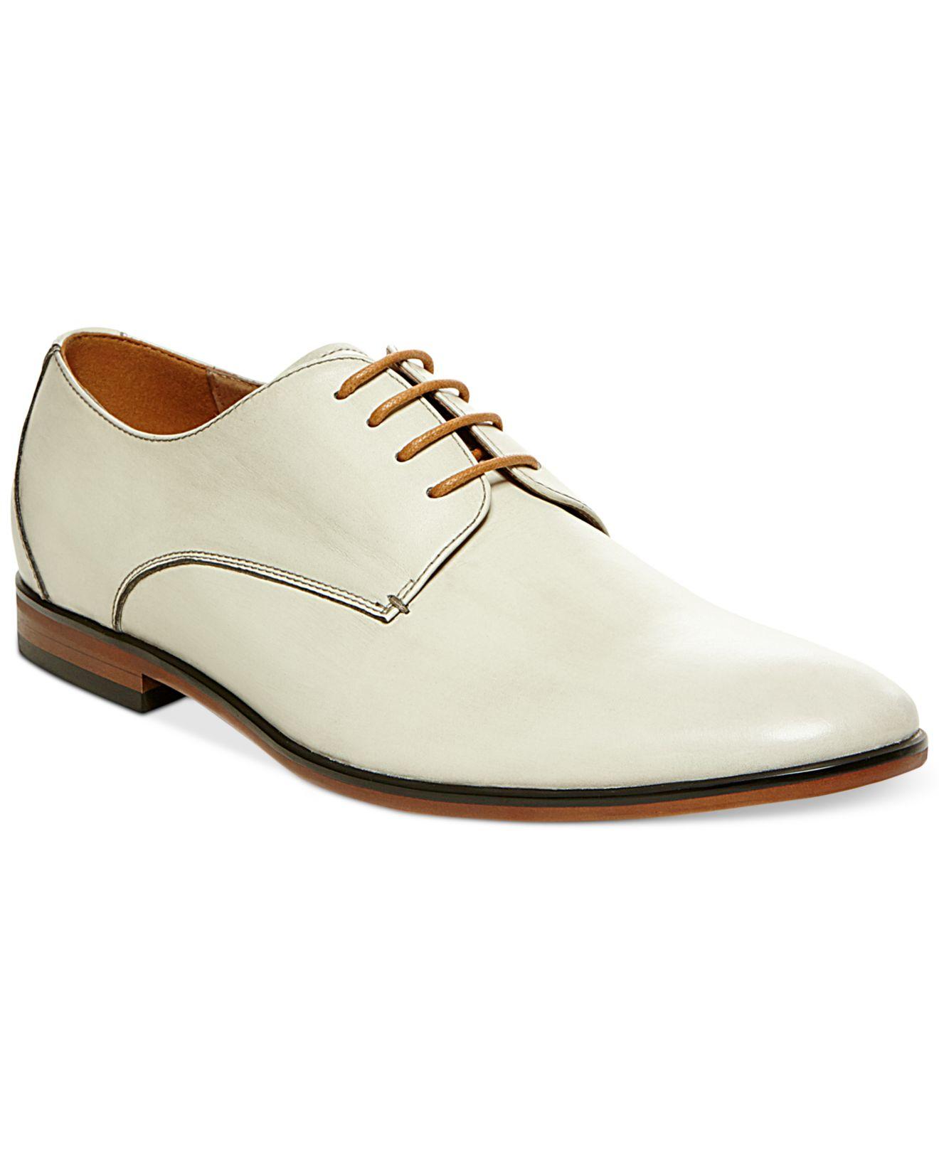 steve madden trotter dress shoes in white for