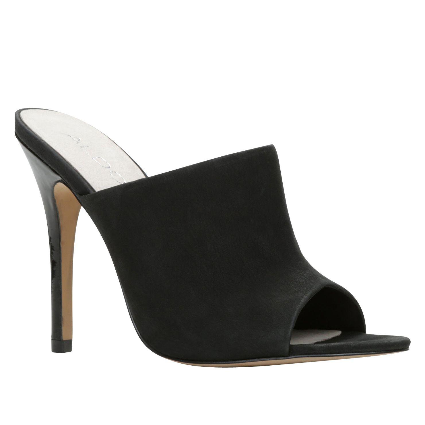 aldo hamaliel peep toe high heel sandals in black lyst