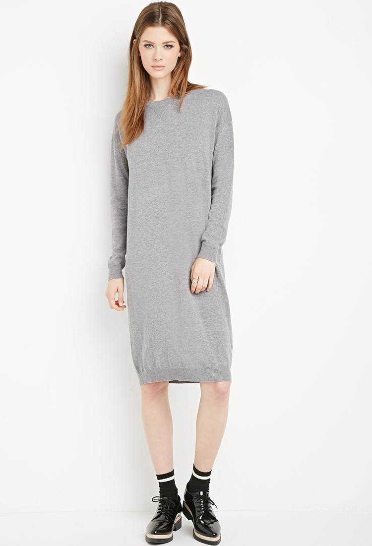 21 Sweater Forever In Gray Dress Heathered Lyst FJc1TKl