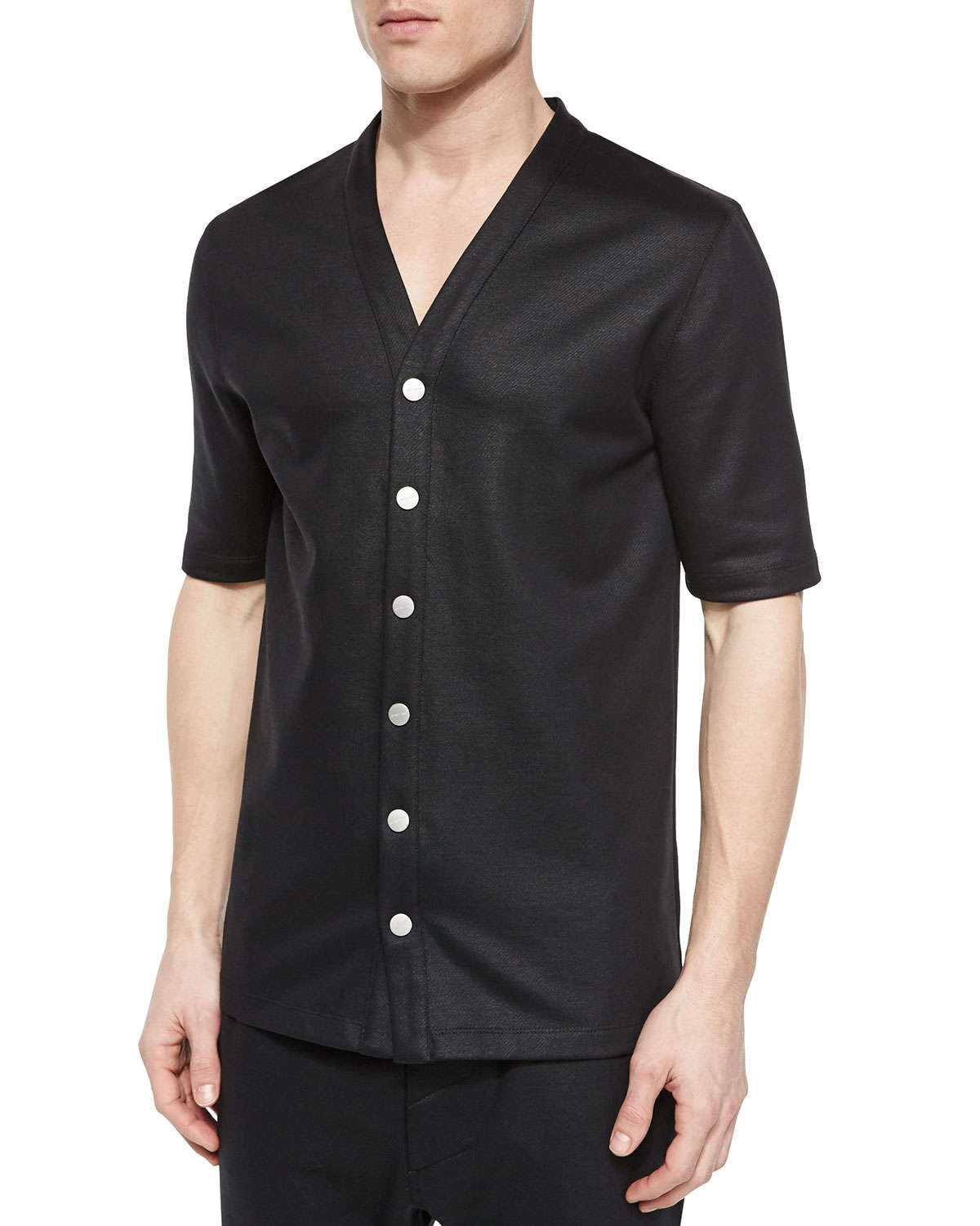 black cotton button down shirt artee shirt