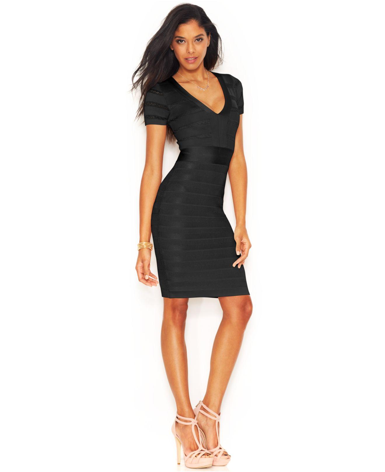 Short Black Bandage Dress