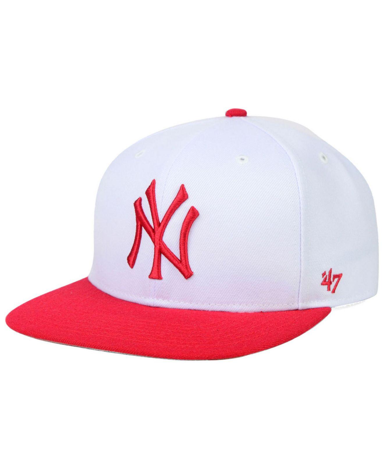 buy online 44067 140bf Lyst - 47 Brand New York Yankees Sure Shot Snapback Cap in White for Men