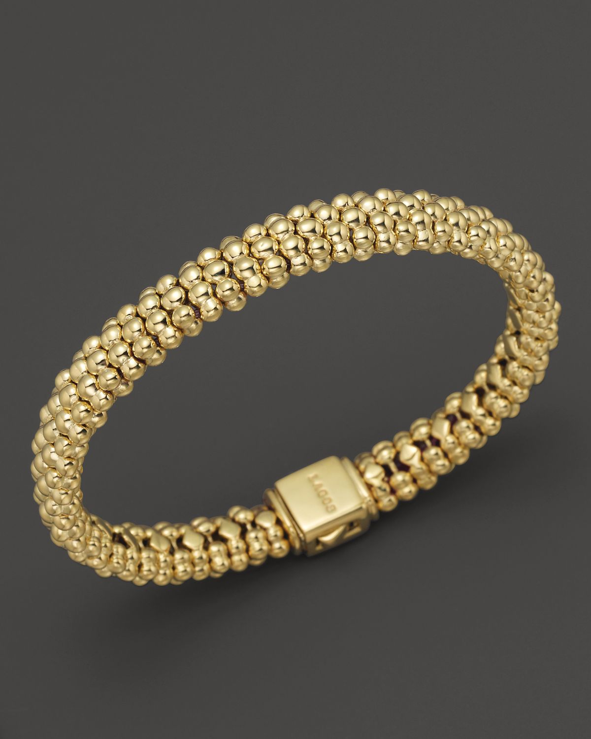Lagos 18k Gold Beaded Bracelet In Metallic Lyst