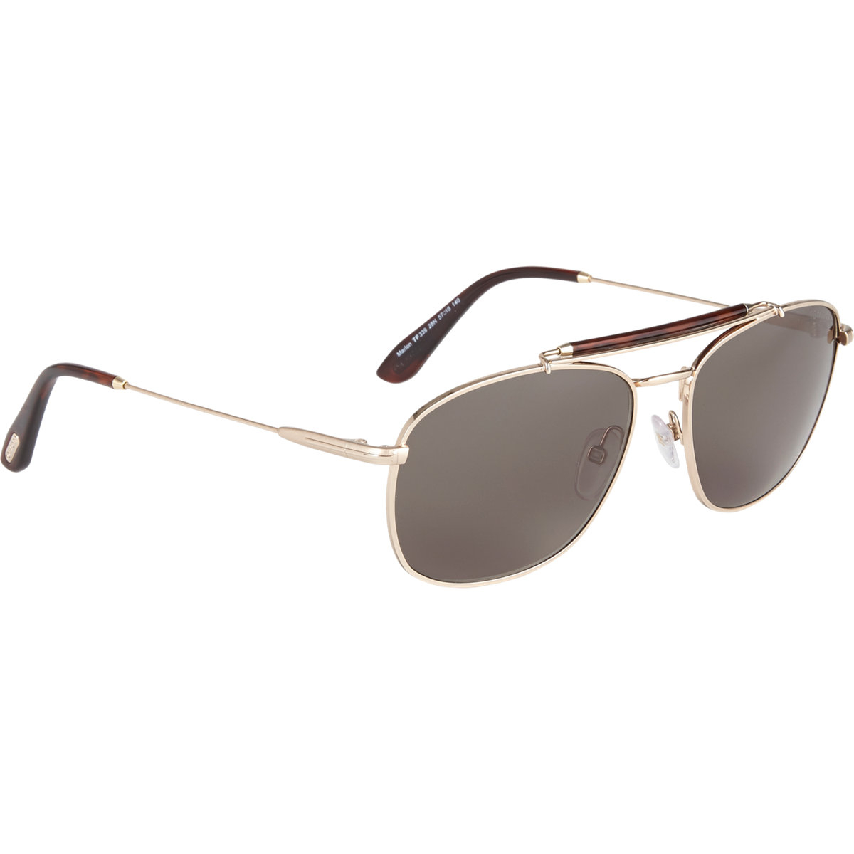 eec2fb35c496b Tom Ford Marlon Sunglasses in Metallic for Men - Lyst