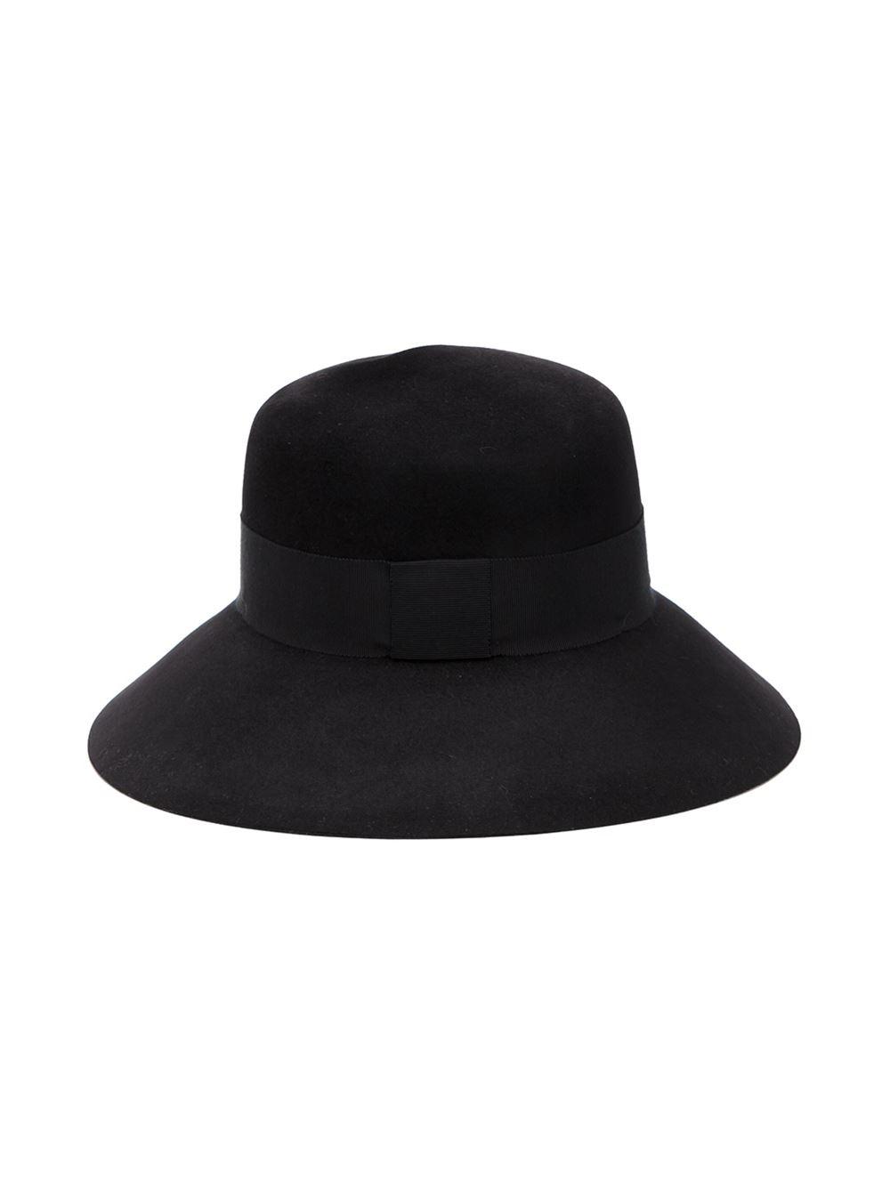Maison michel felt hat in black lyst for Maison michel