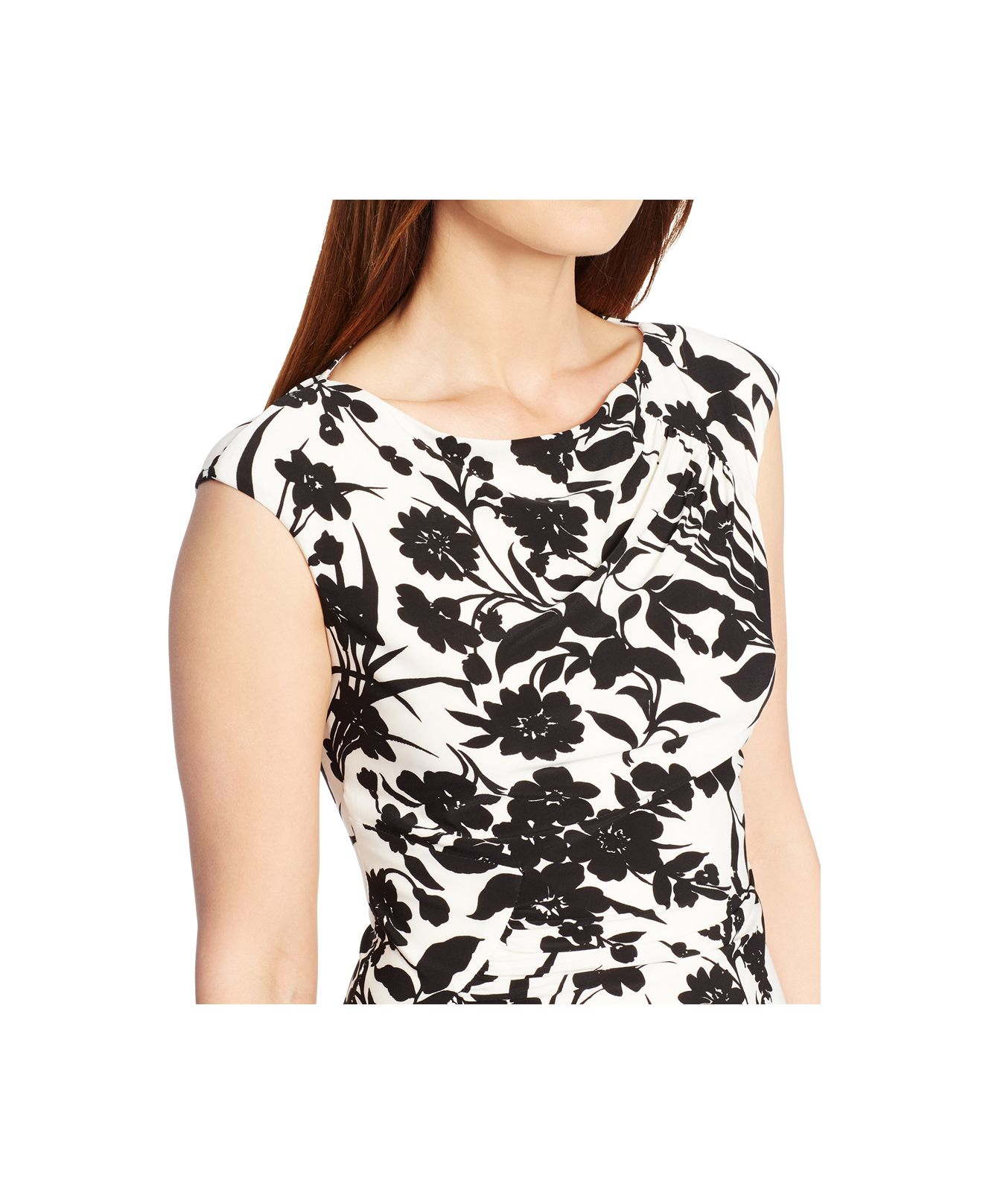 Lyst American Living Floral Print Sheath Dress In Black