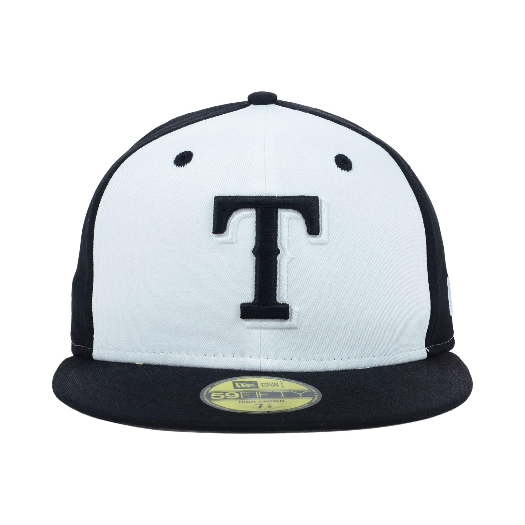 buy online fd7d6 12e3c KTZ Texas Rangers Mlb High Heat 59fifty Cap in Black for Men - Lyst