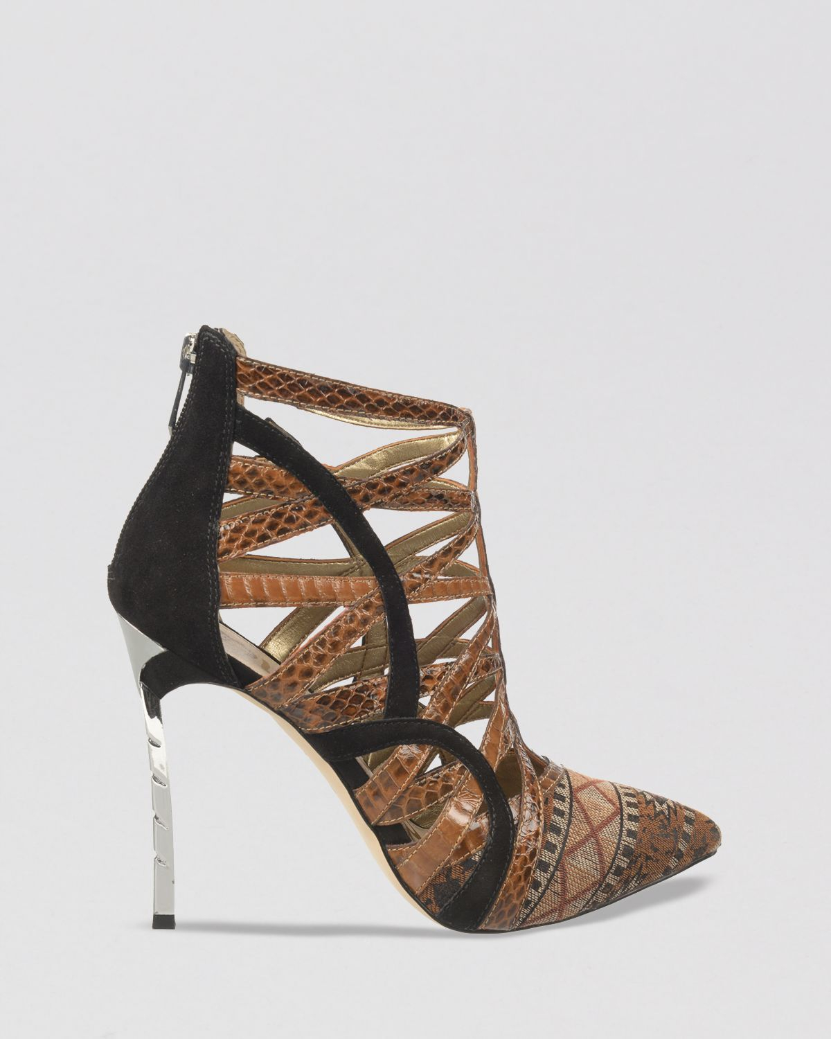 a97853de1 Lyst - Sam Edelman Pointed Toe Caged Booties - Sydney Tribal High ...