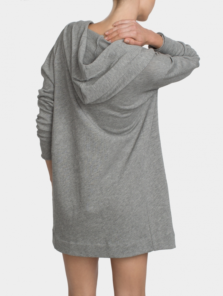 White   warren Combed Cotton Hooded Cardigan in Gray | Lyst
