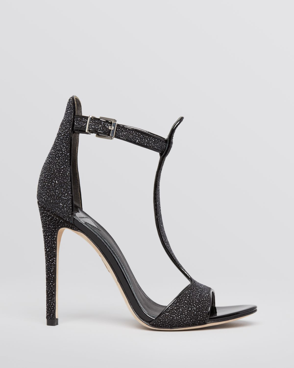 B Brian Atwood Satin T-Strap Sandals free shipping cheap quality outlet cheap authentic 0zEGBMM