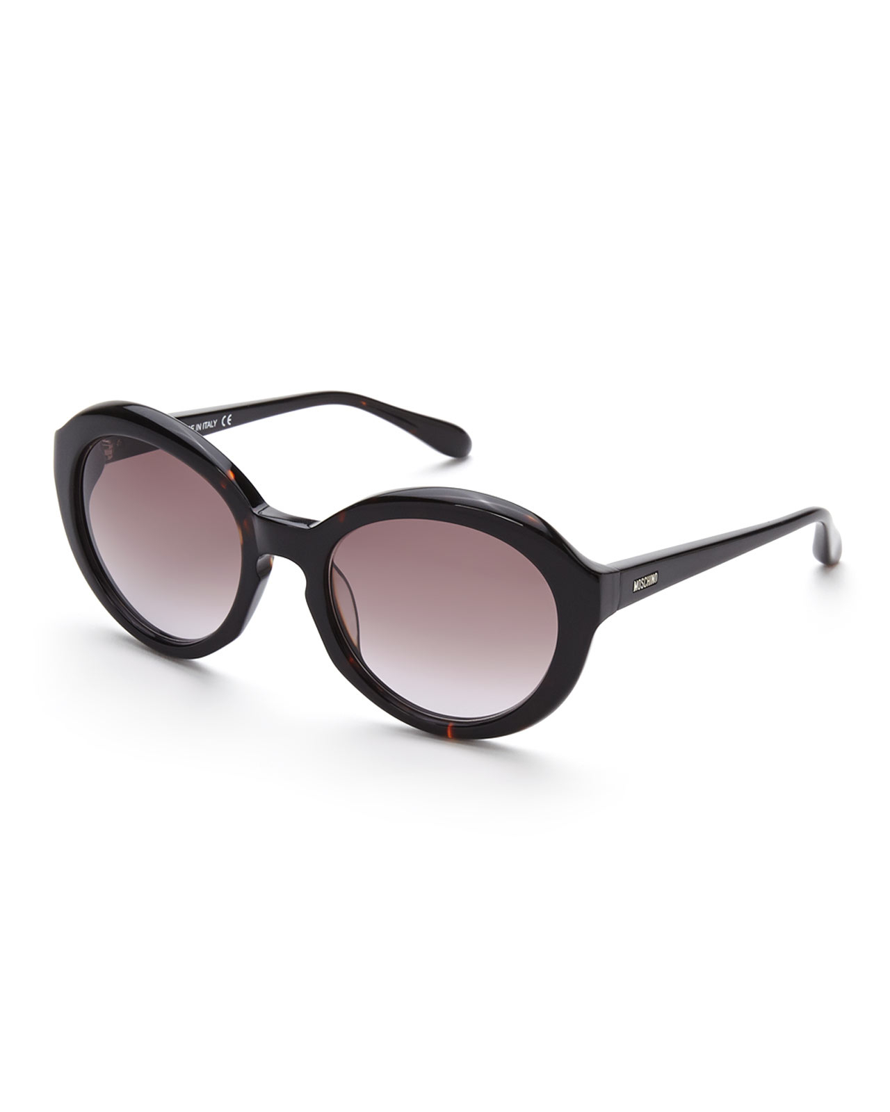 3e99d539bf Lyst - Moschino Mo72102 Black Thick Xl Round Sunglasses in Brown