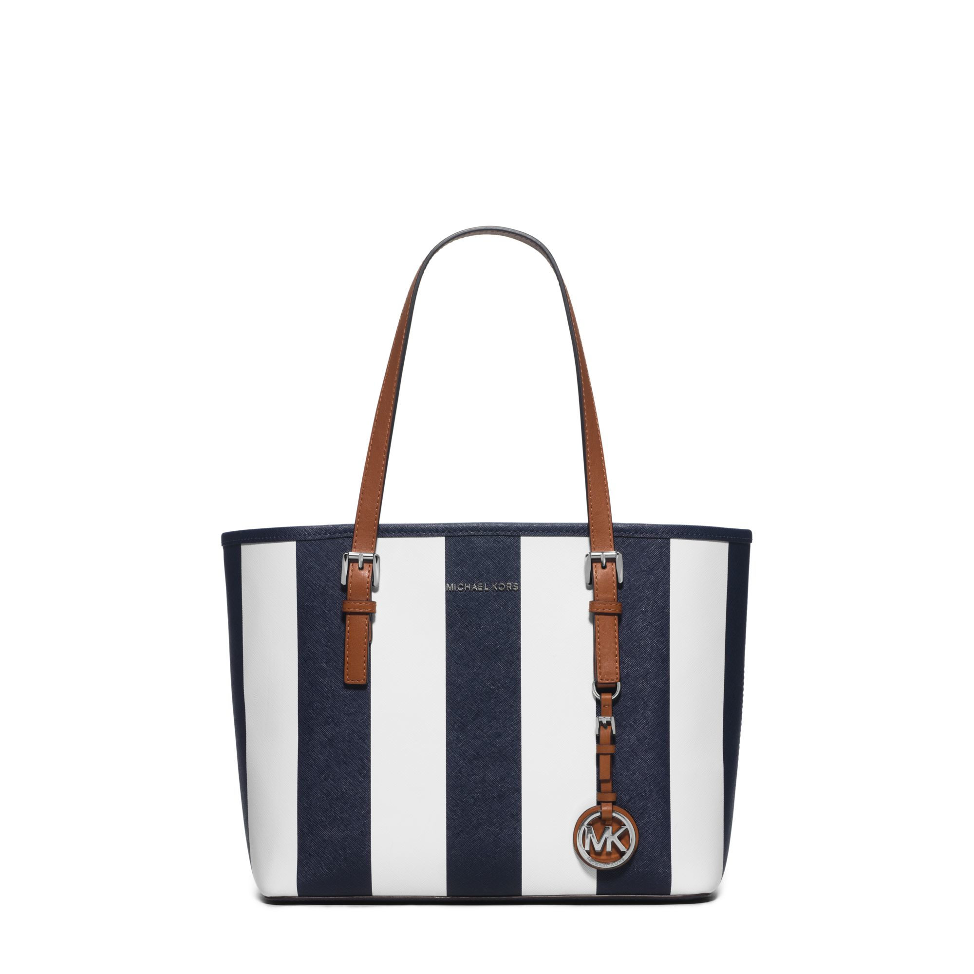 92df46825424b2 Michael Kors Jet Set Travel Small Saffiano Leather Tote in Blue - Lyst