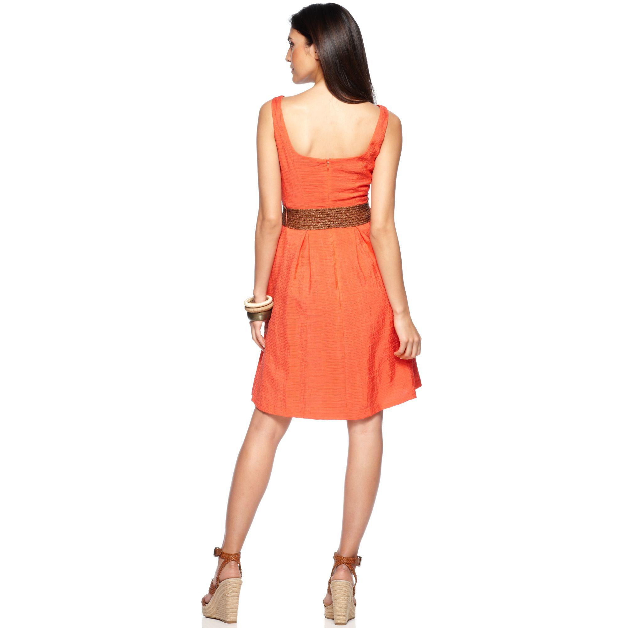 Orange Nine West Dresses