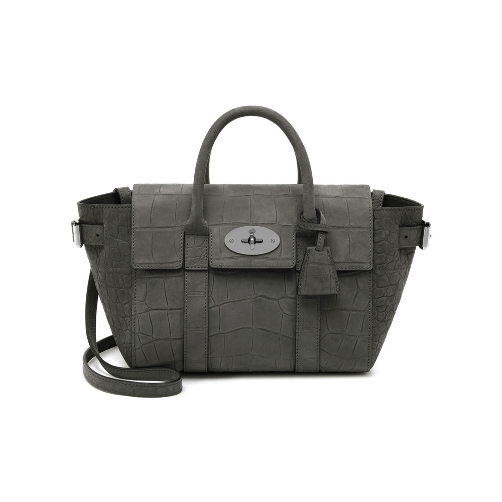Mulberry mini bayswater buckle tote in gray lyst for The bayswater