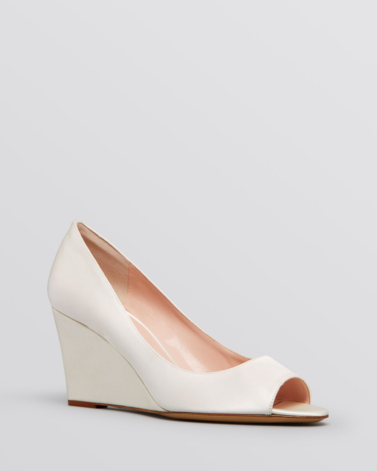 Kate Spade New York Patent Leather Peep-Toe Wedges latest collections cheap online discount cheap ost release dates NPCF0c6P