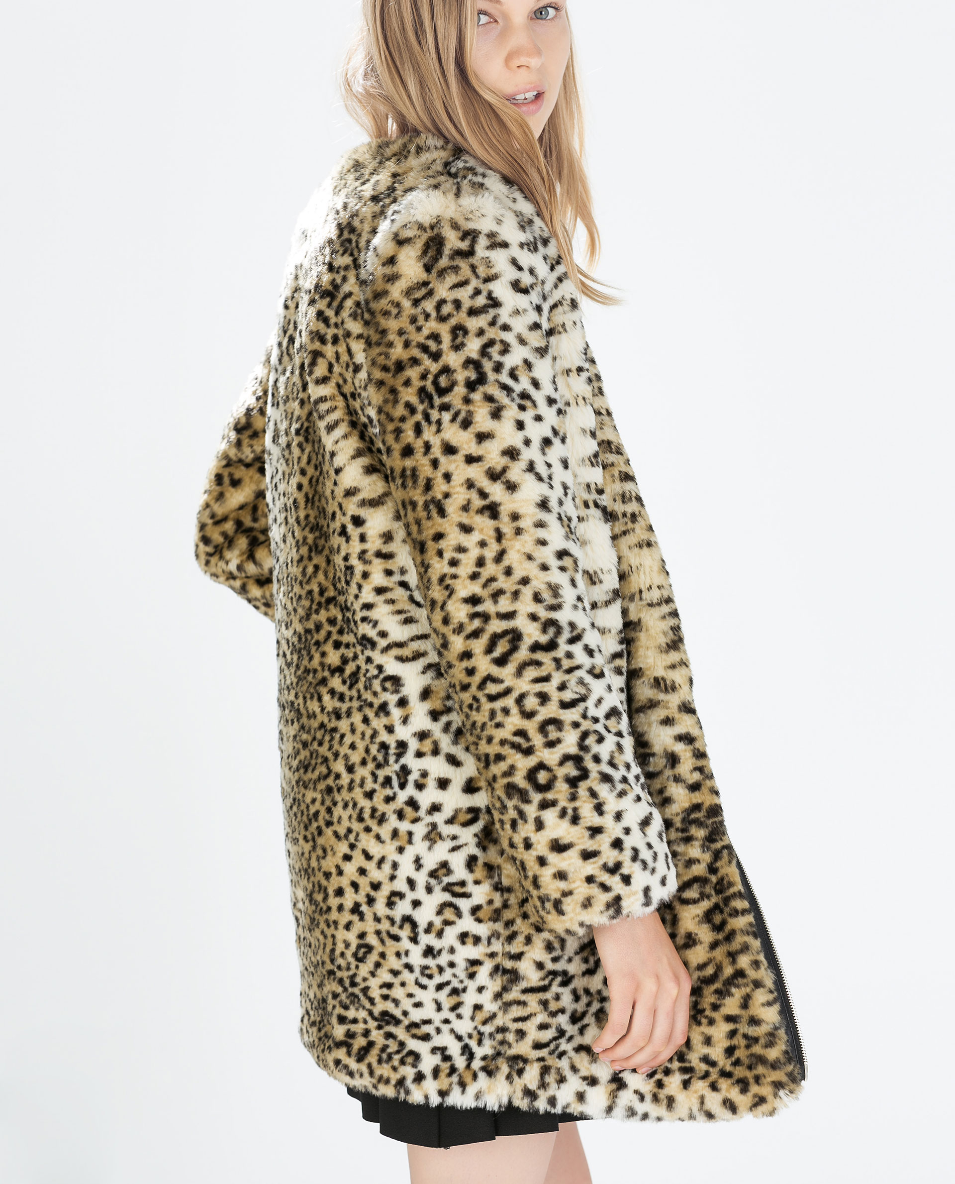Exciting Doina Ciobanu Zara Leopard Faux Fur Scarf Chemistry Look