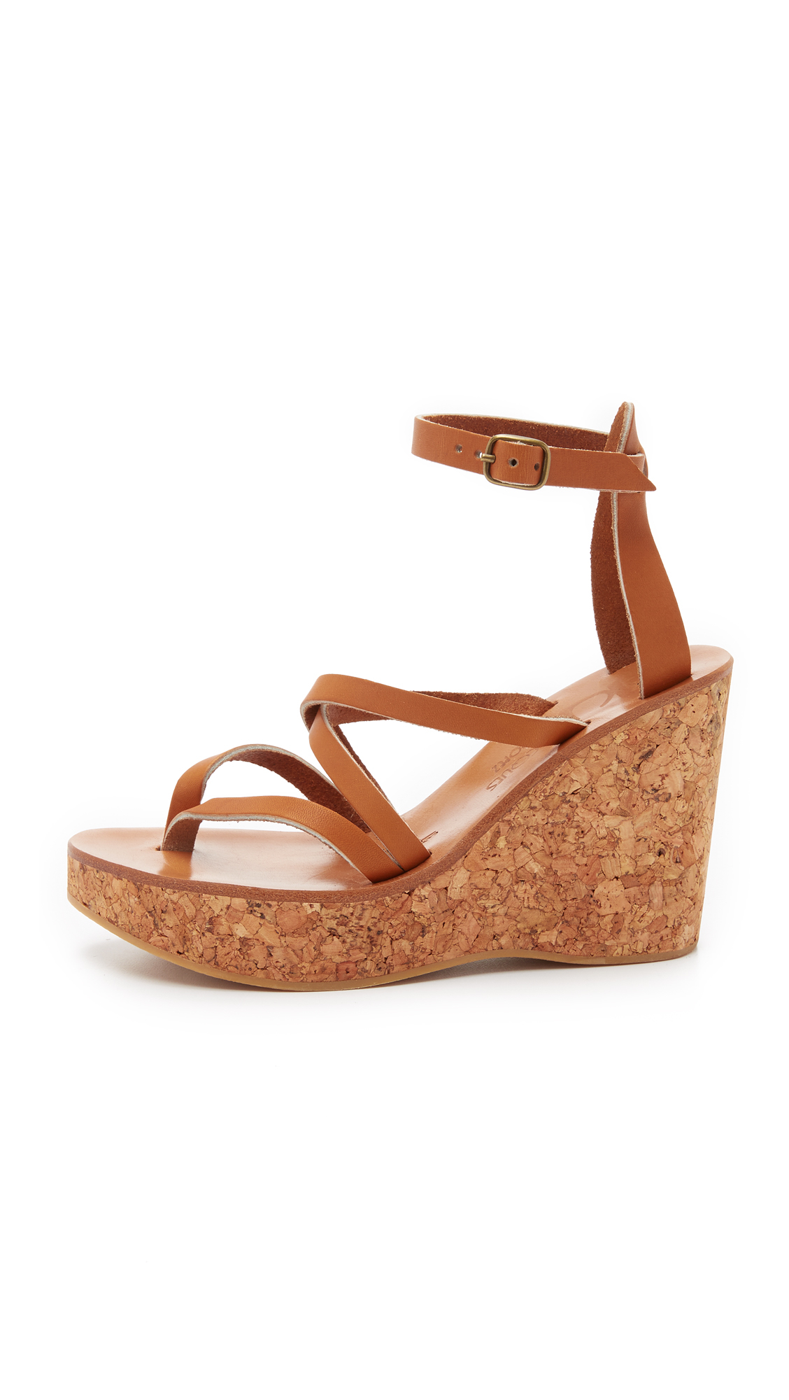776bb1a4392 K. Jacques Cunegonde Wedge Sandals in Natural - Lyst