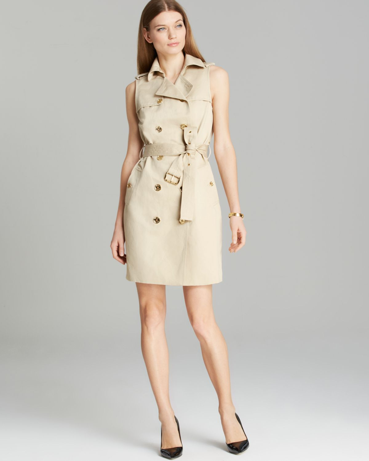 Lyst Michael michael kors Trench Dress in Natural
