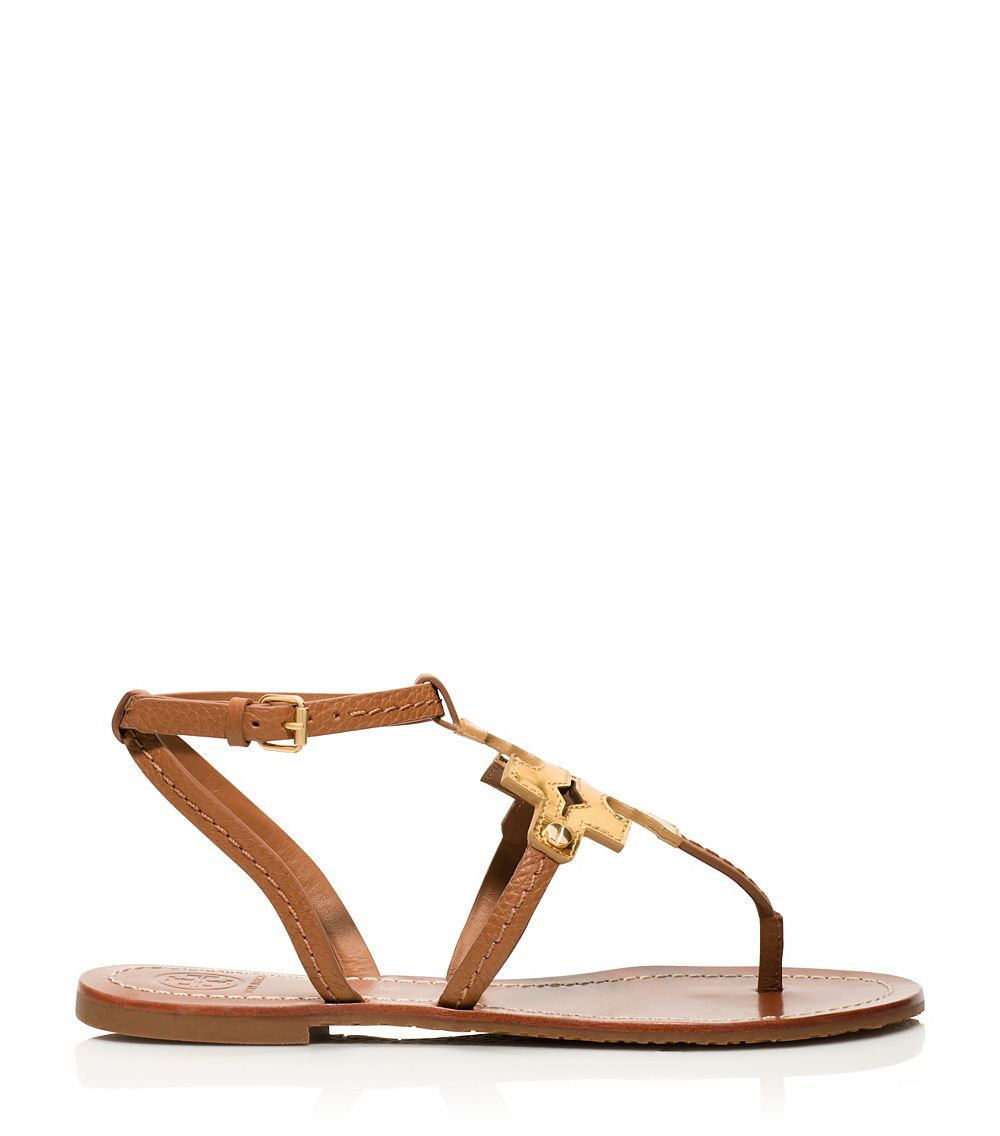 95d49ef60fb Lyst - Tory Burch Chandler Flat Sandal in Brown