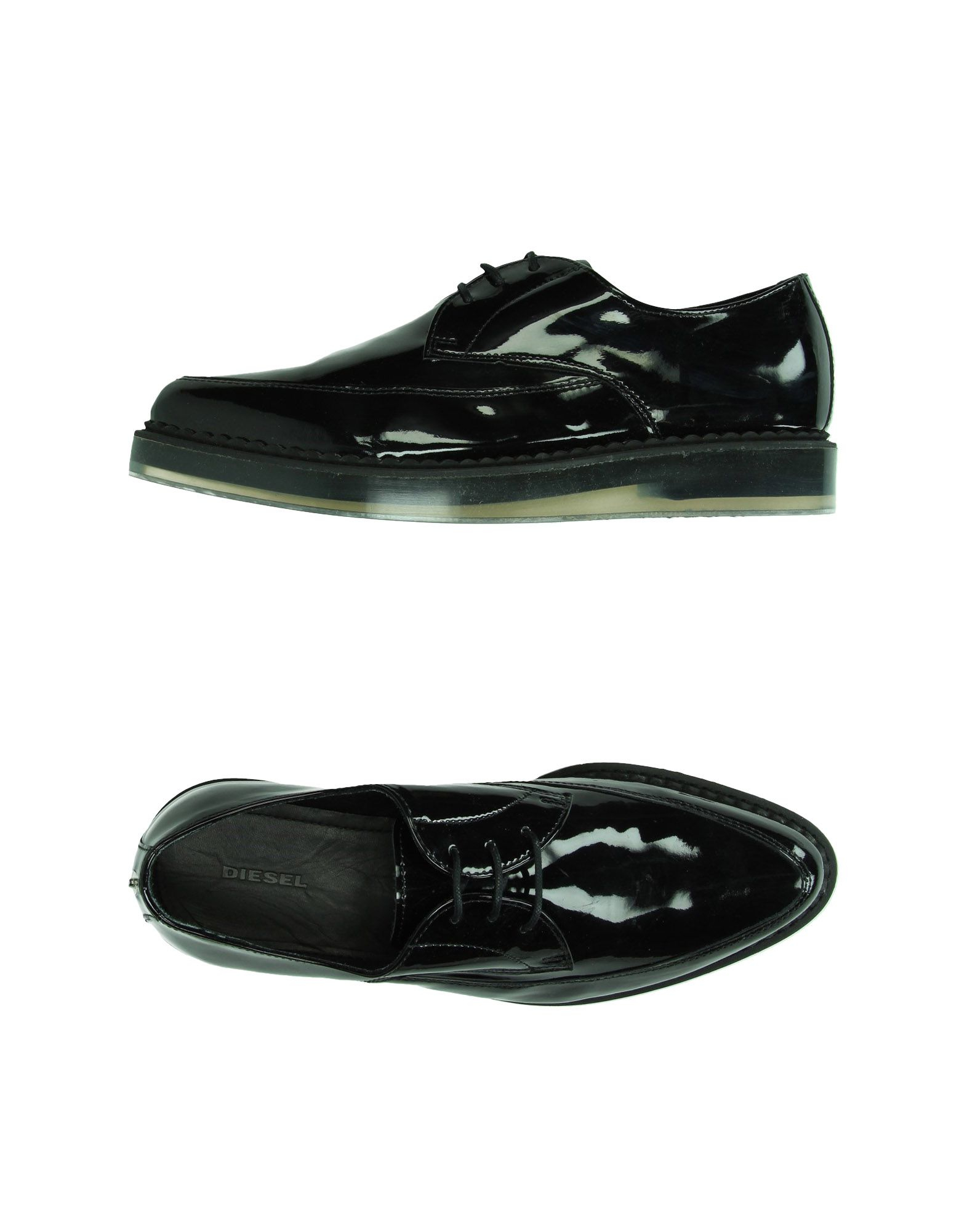 diesel lace up shoes in black for lyst