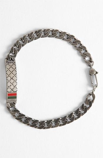 f855628af148 Lyst Gucci Diamante Pattern Sterling Silver Bracelet In Metallic