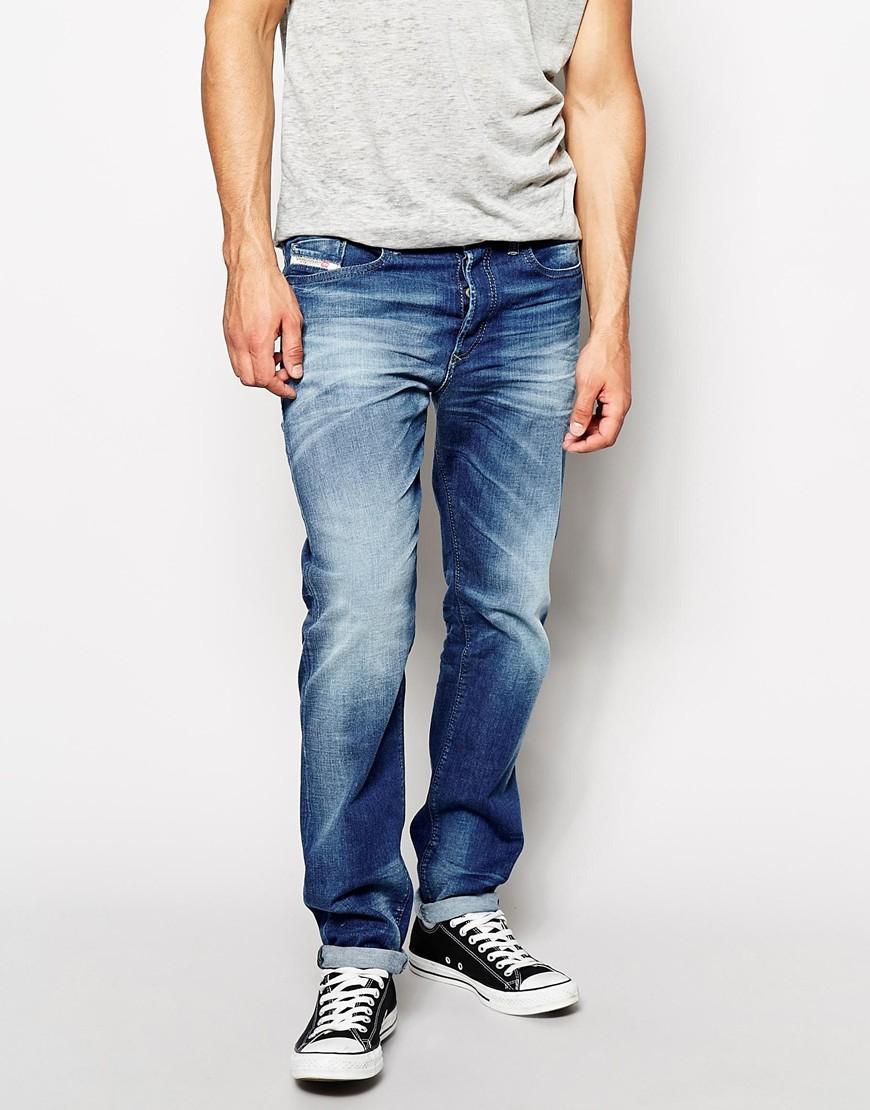 lyst diesel jeans buster 831d regular tapered fit mid. Black Bedroom Furniture Sets. Home Design Ideas