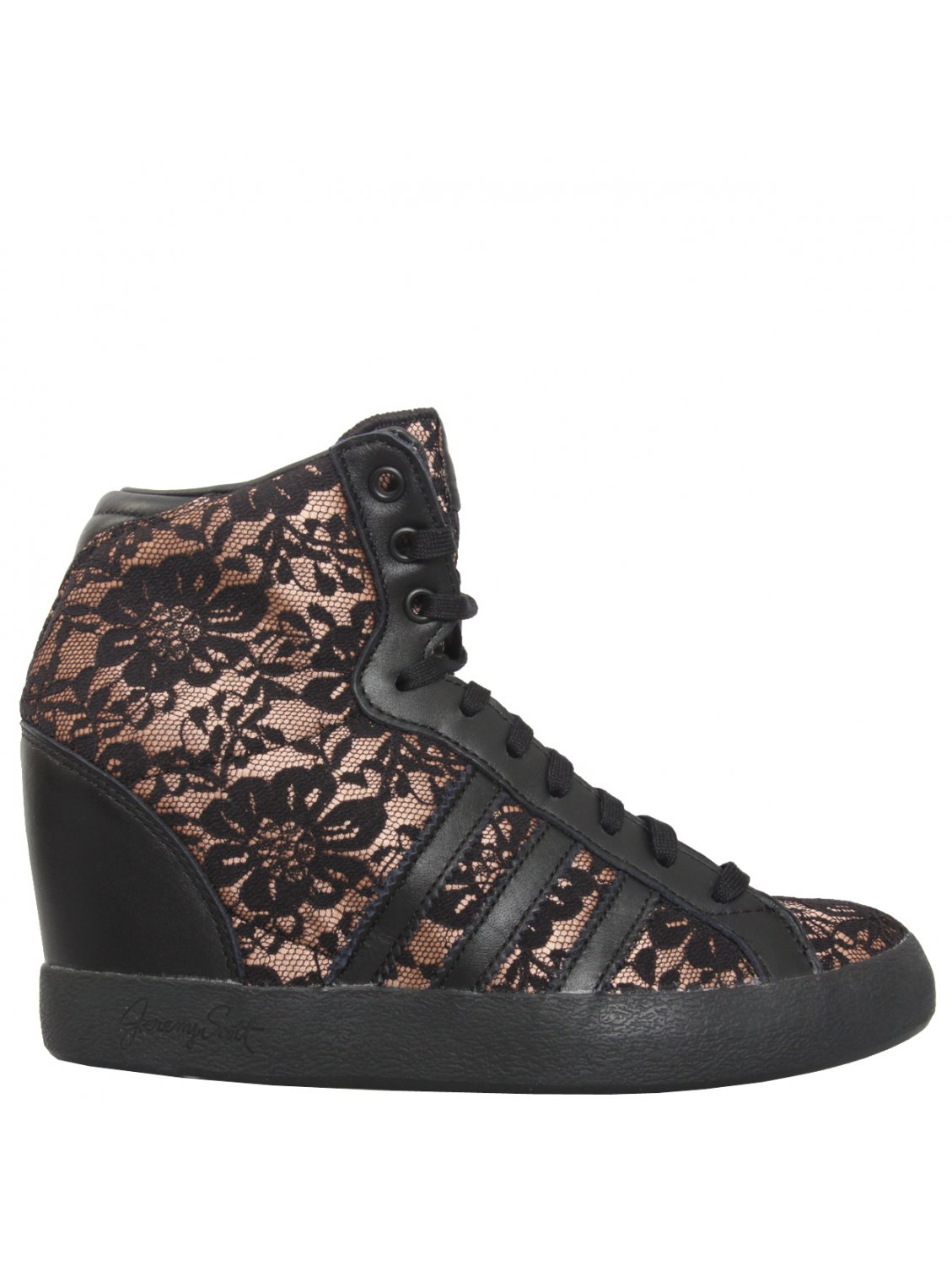 Jeremy Scott For Adidas Lace Wedge Sneakers Black in Black ...