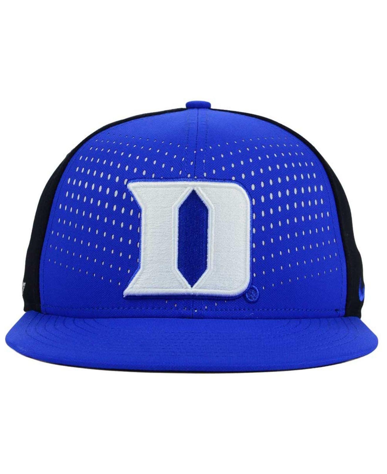 ... australia lyst nike duke blue devils true seasonal snapback cap in black  for men 736aa 054cf b957bb04b49b
