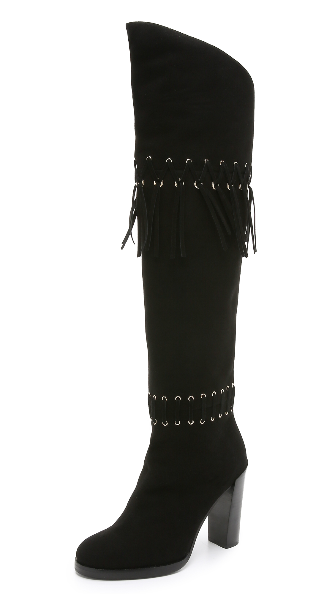 cce6d6f30d7 Lyst - Rebecca Minkoff Bardot Over The Knee Boots in Black