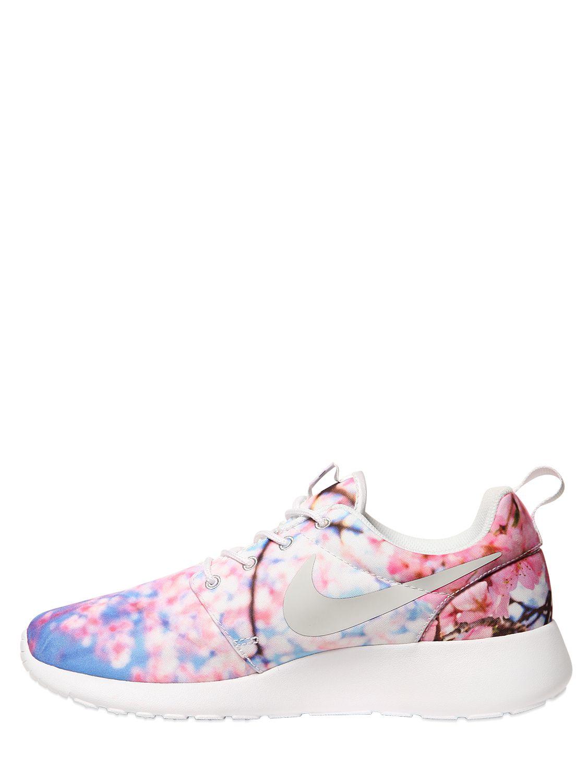 Nike Roshe One Cherry Blossom Mesh Sneakers For Men Lyst
