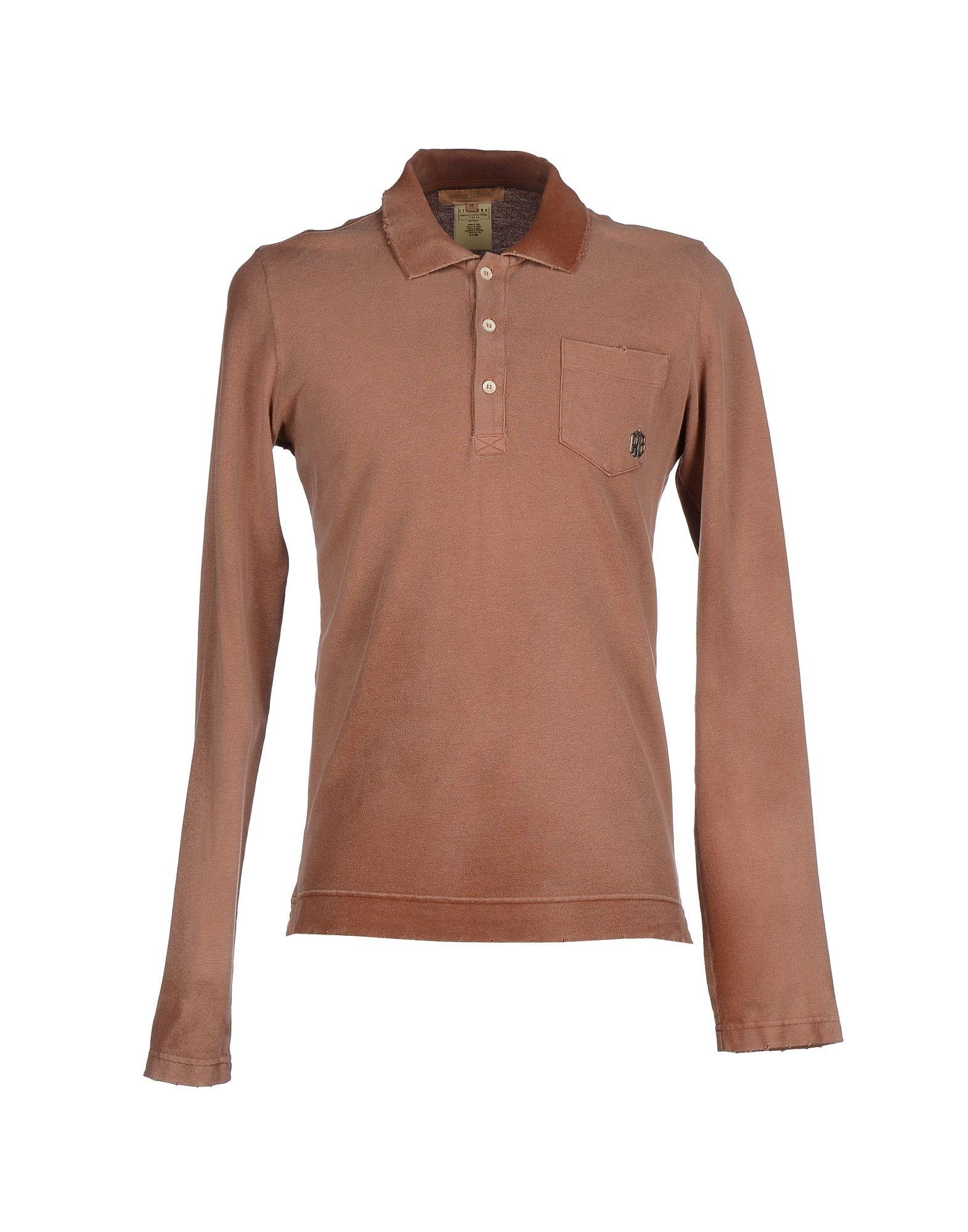 Balmain Polo Shirt In Brown For Men Lyst