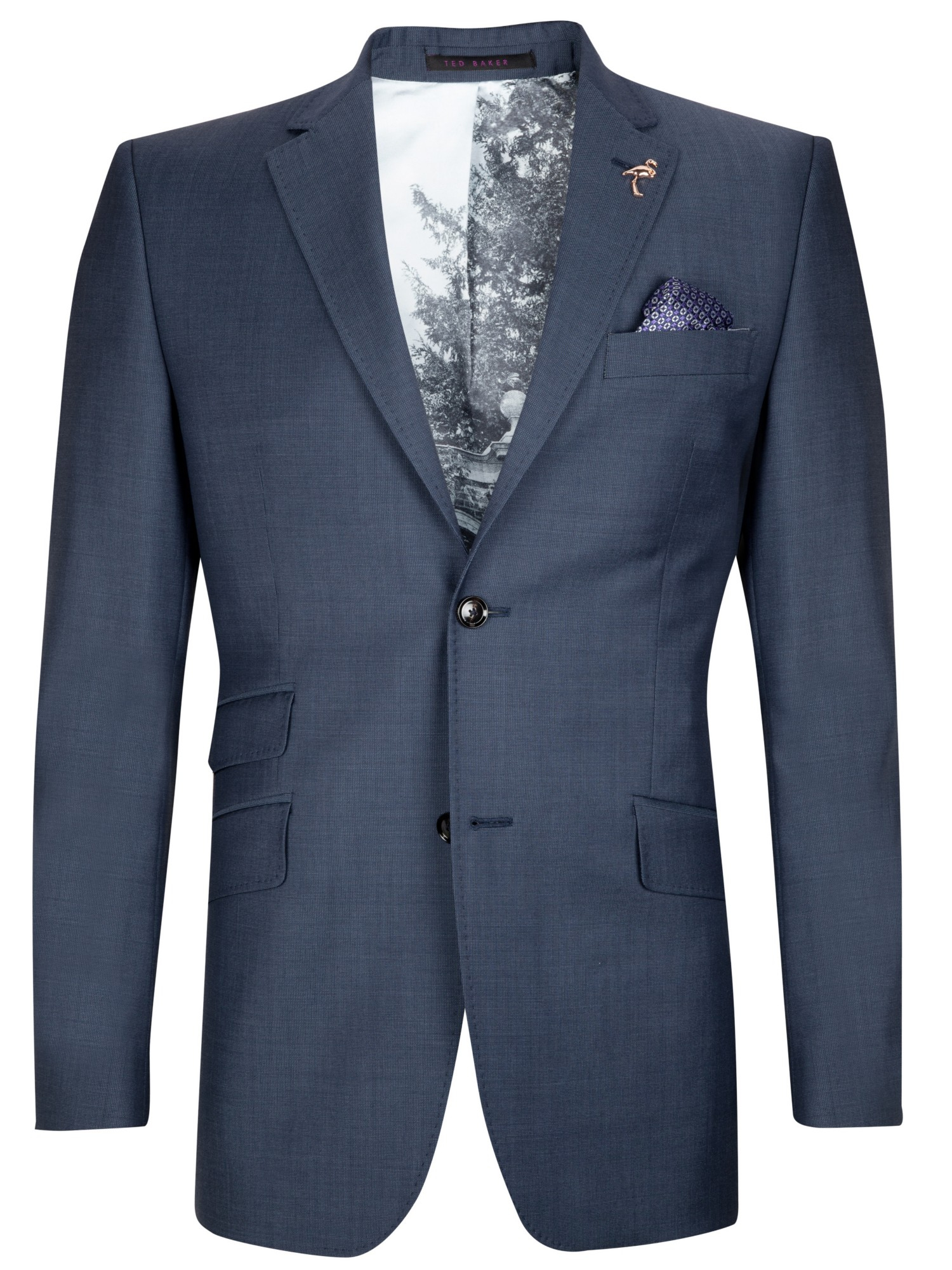 86f04e944 Ted Baker Doltjak Sterling Semi Plain Suit Jacket in Blue for Men - Lyst