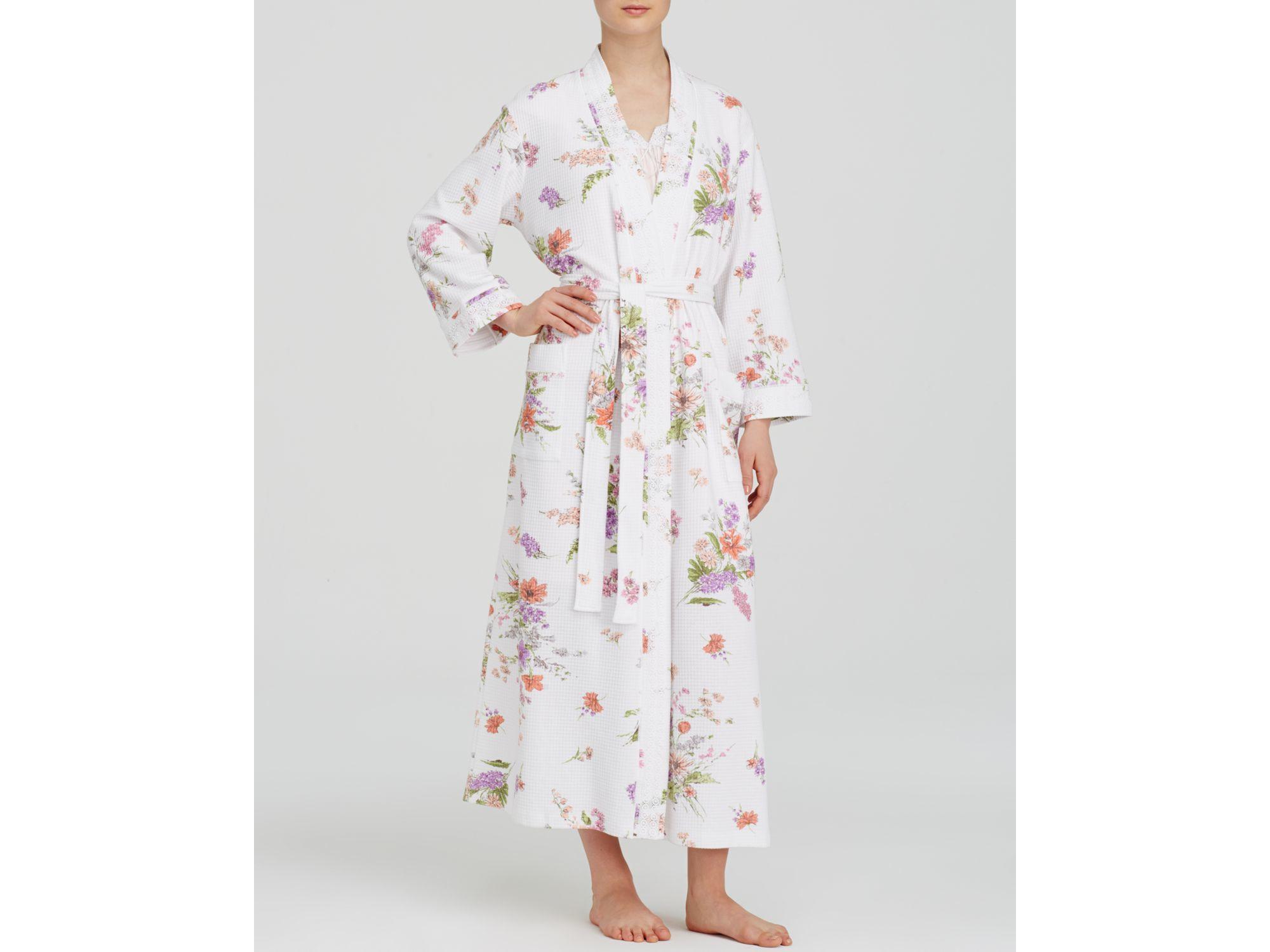 Lyst - Carole Hochman Windswept Flowers Long Robe