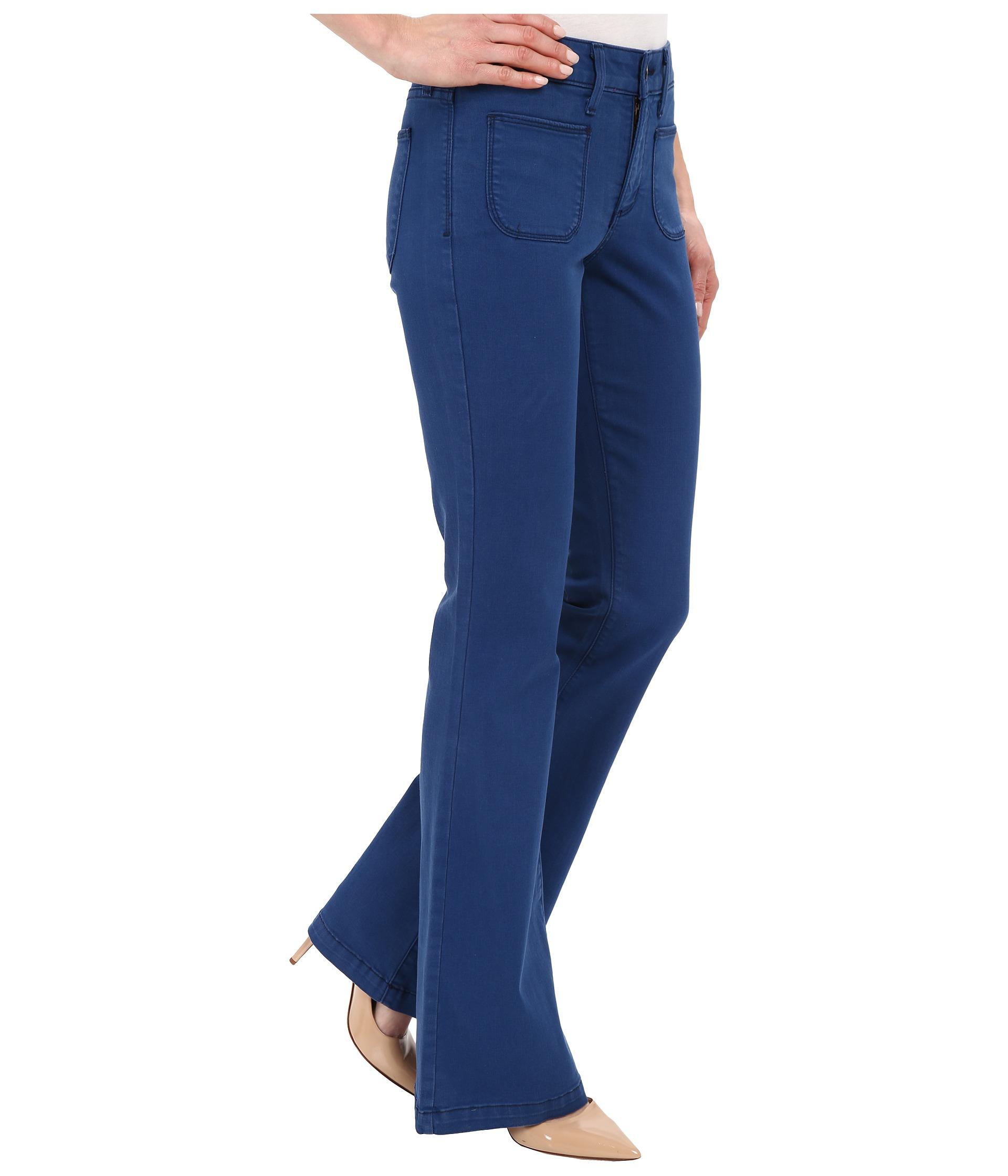 Nydj Farrah Flare Jeans In Fort Wayne in Blue | Lyst