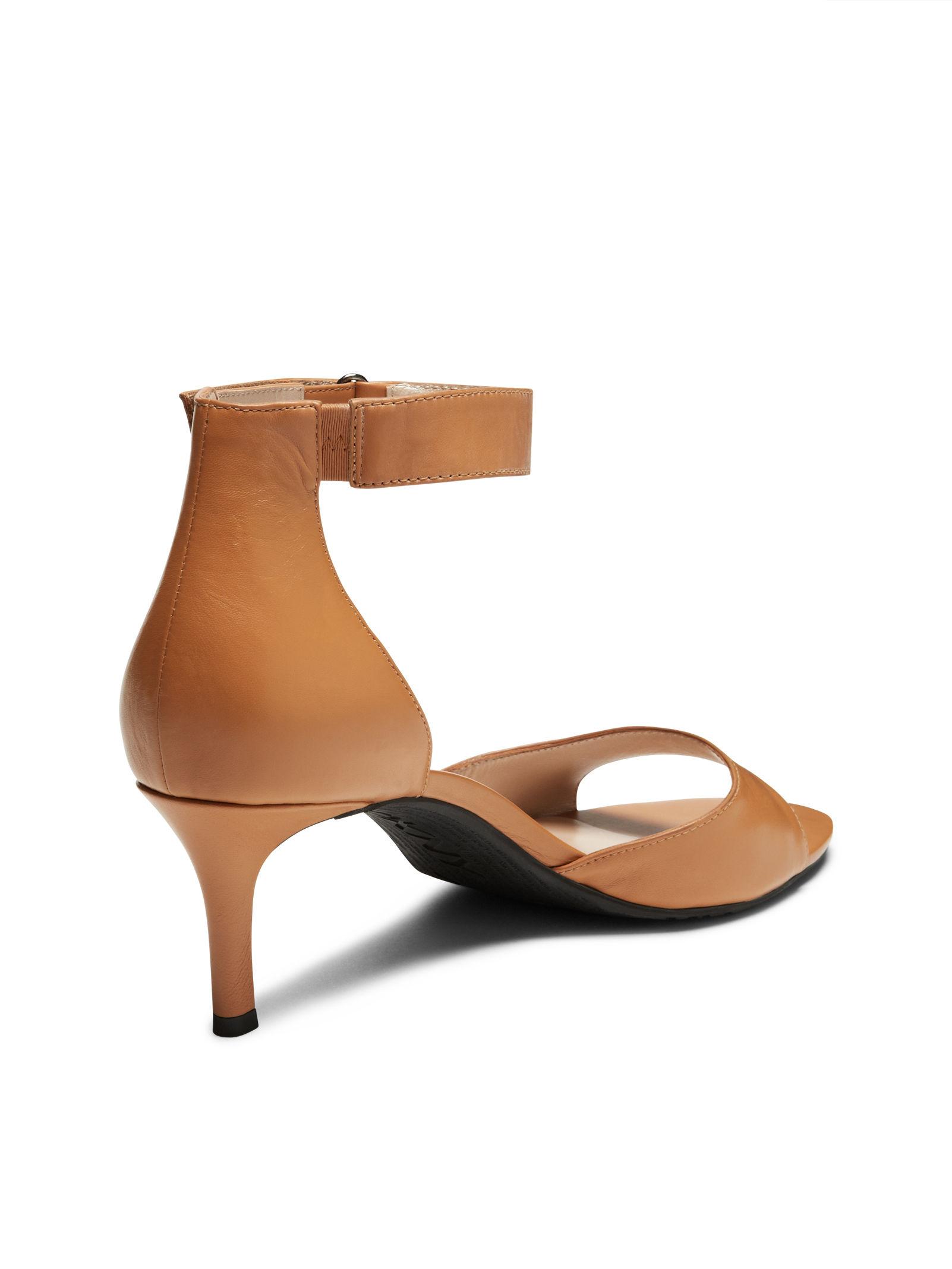 Dkny Gianna Kitten Heel Sandal in Brown | Lyst