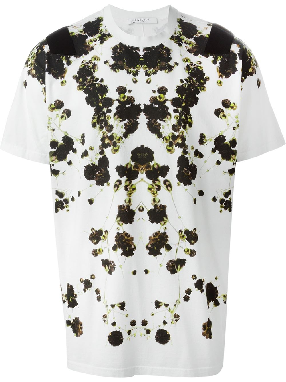 givenchy white floral print t shirt product 1 27792985 0 973764654. Black Bedroom Furniture Sets. Home Design Ideas