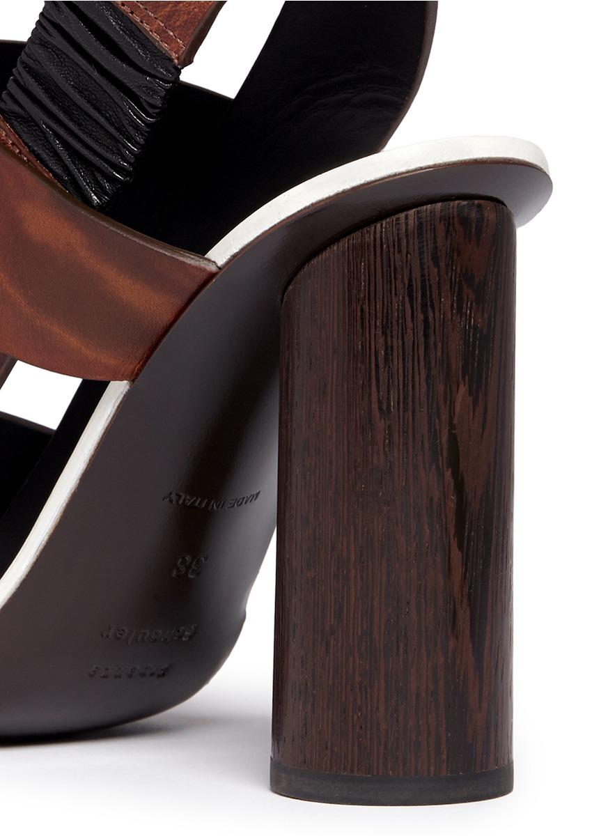Lyst Proenza Schouler Wooden Heel Bark Print Leather
