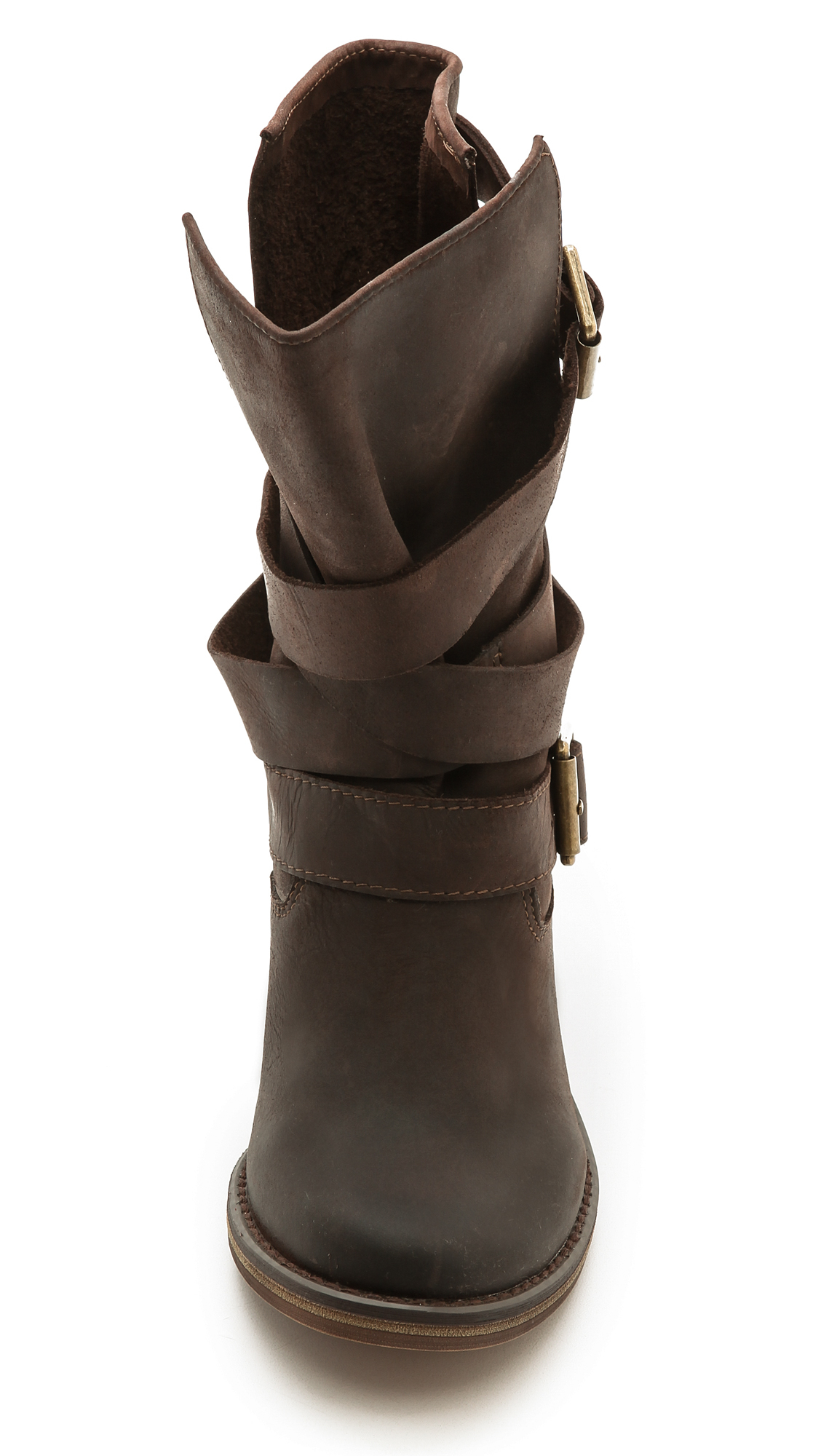 Jeffrey campbell France Wrap Strap Boots in Brown   Lyst