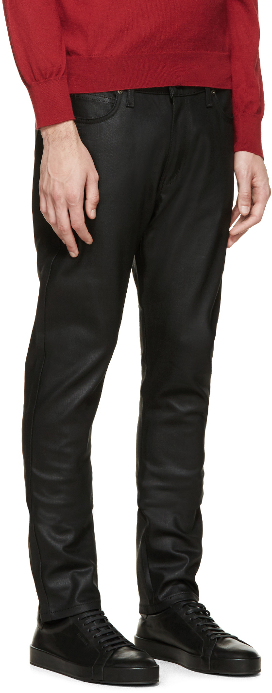 Lyst - Naked  Famous Black Waxed Stacked Guy Jeans In -2360