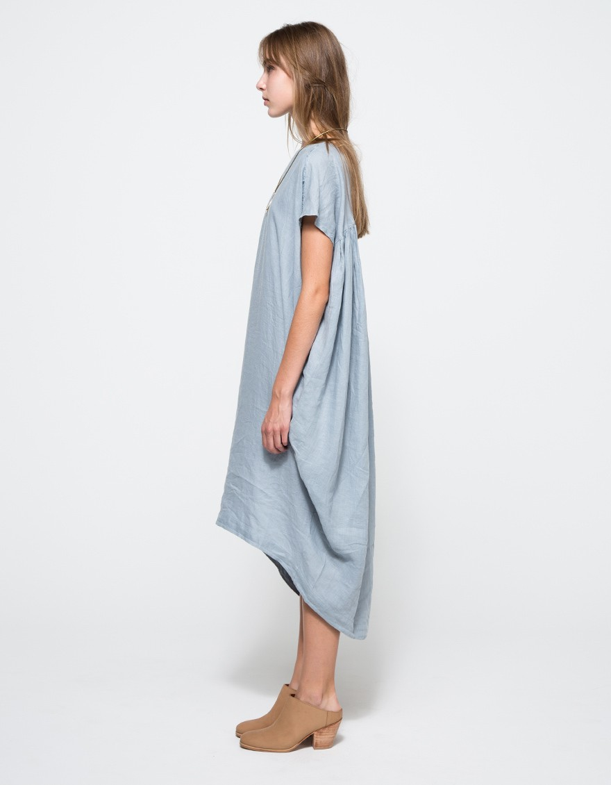 Black Crane Cocoon Dress In Blue Lyst