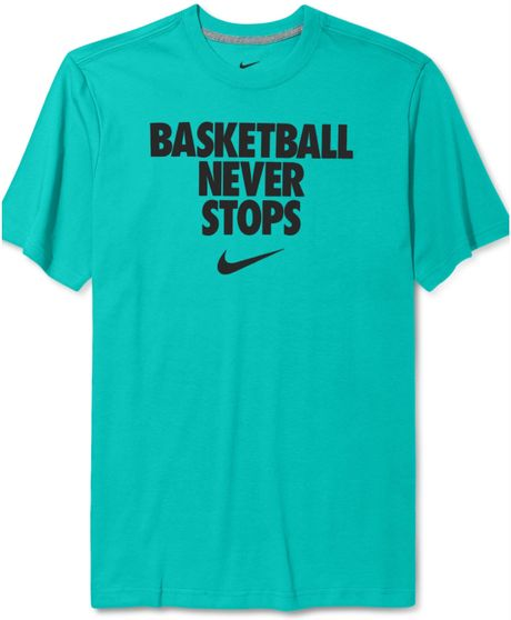 Shirts niverville hood ballers for Basketball never stops shirt nike